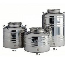 Бидон (фляга) из нержавеющей стали объемом 25 литров