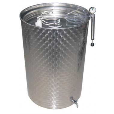 Бочка из нержавеющей стали с плавающей крышкой (700 литров)