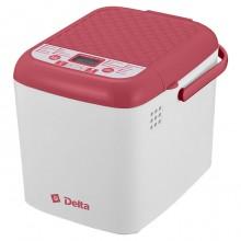 Хлебопечь электрическая DELTA DL-8007B белая с красным